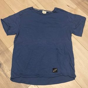 Zara Blue T-shirt w/pocket detail
